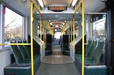 Interior of a Rome bus