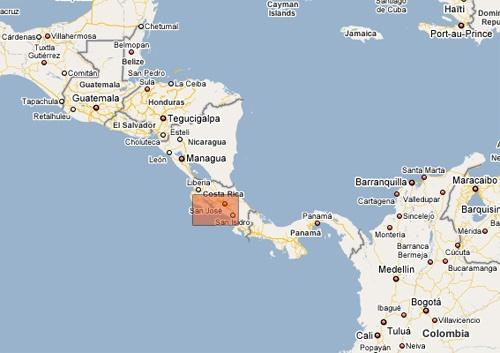 Maps Costa Rica