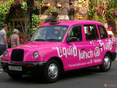 London decorated taxis