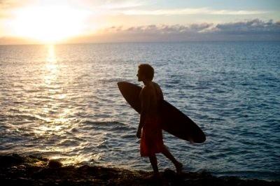 Sunset Costa Rica surfing
