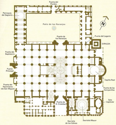 Plan of the Cathedral of Seville