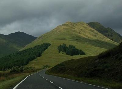 Scotland road landscape