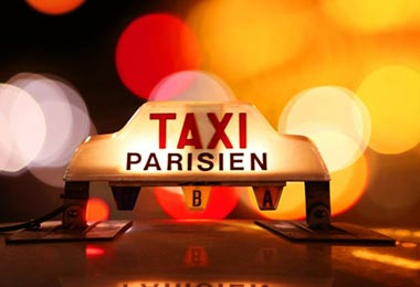 Paris taxi roof sign