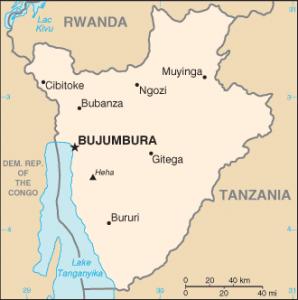 bBurundi, map borders