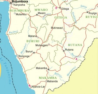 Map of Burundi South Zone