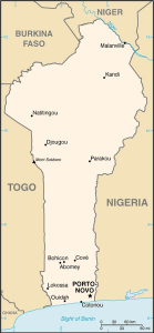 map of Benin and its borders