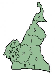 Cameroon provinces map