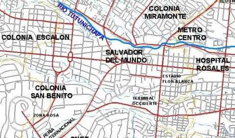 map San Salvador the savior of the world
