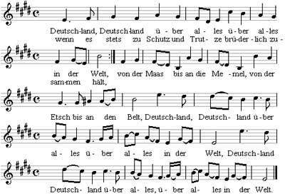 Deutschlandlied music