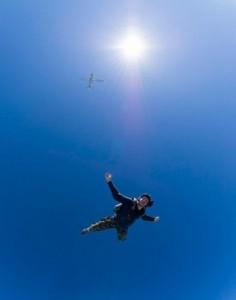 Lancement du parachutisme à Madrid