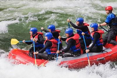 Multiadventure rafting en route