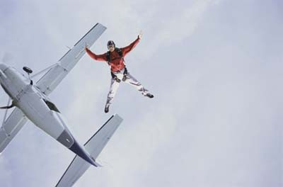 parachutisme à Séville lancement