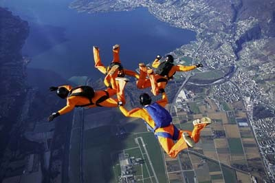 group skydiving in Seville