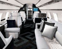 Photos of the interior of the private Jet