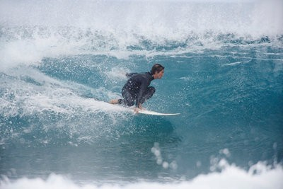 Surfing in Morocco in the waves