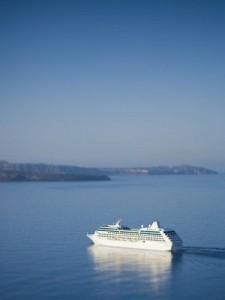 Cruise ships sailing
