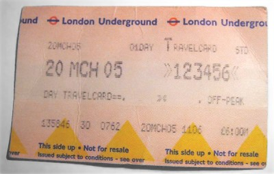 London subway ticket