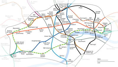 London underground area map