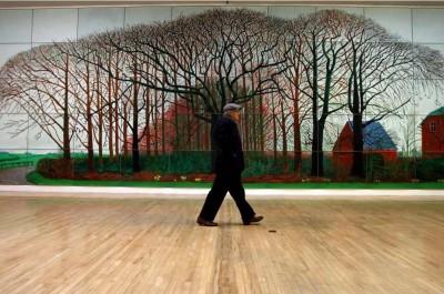 Hockney dans la Tate Britain