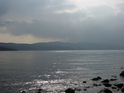 Loch Ness with clouds