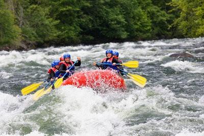 Rafting in Huesca fast