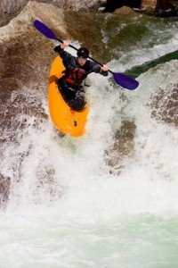 Rapid kayak descent
