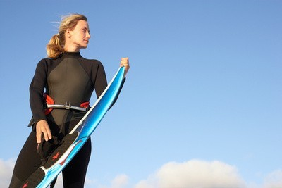 Surfing swimsuits woman surfing