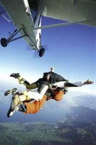 Cours de parachutisme avec un moniteur