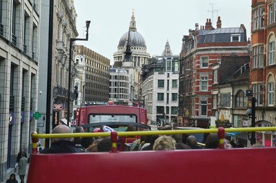 Tourism in the United Kingdom from a bus