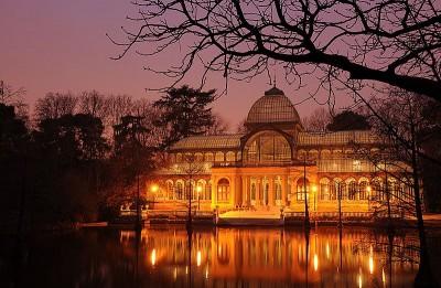 crystal palace at night