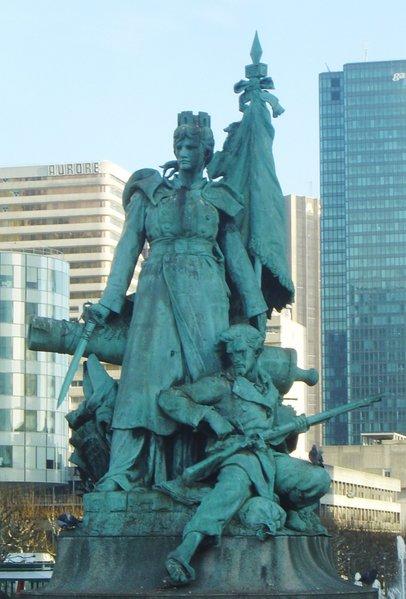 the defense statue
