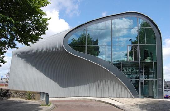 The architecture in Amsterdam