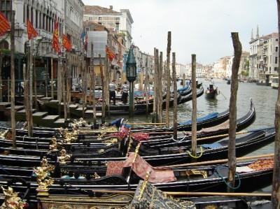A gondola ride through Venice