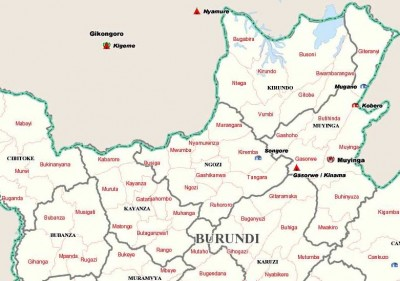 North Burundi Map