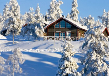 Christmas holidays in the snow