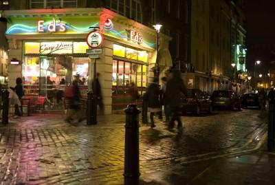 The lights in London's Soho