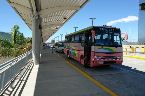 Buses in Santamaría International Airport