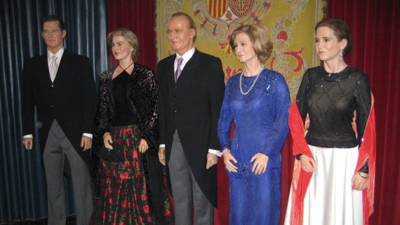 Spanish Royal Family at the Wax Museum in Madrid