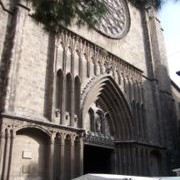 Photograph of Santa Maria del Pilar, from the Gothic Quarter in Barcelona