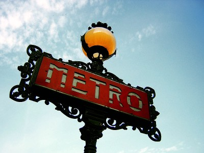 metro in paris signboard