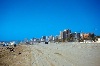 The beach of San Juan in Alicante