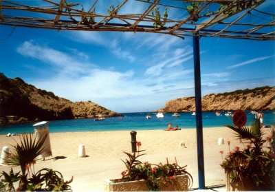 The best beaches in Spain Cala Vadella in Ibiza