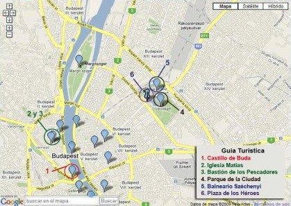Tourist map of Budapest